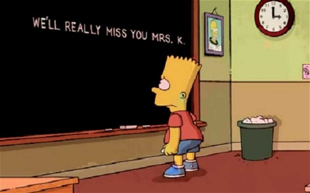 The Simpsons Touching Tribute to Edna Krabappel