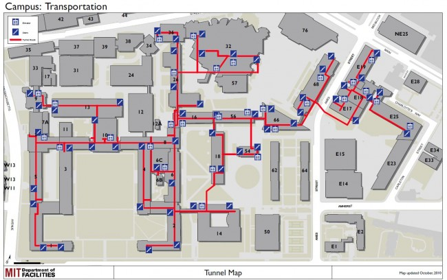 MIT campus transportation and tunnel network