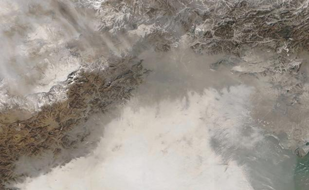 Pollution in China Visible From Space [Video]