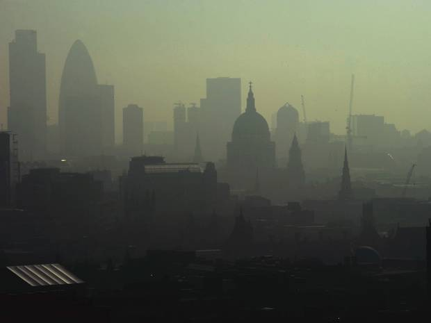 Sahara Dust Pollution Britons Told to Stay Inside