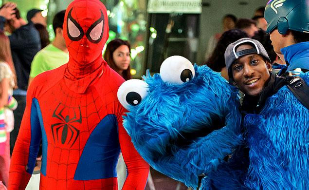 Times Square Spider-Man Punches Policeman