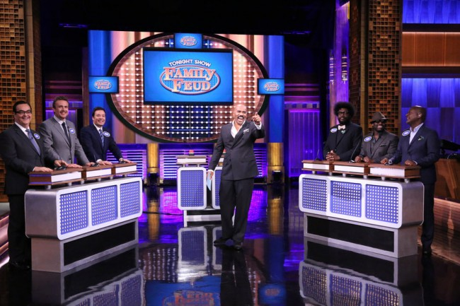 Jimmy Fallon Plays Family Feud With Jason Segel And Steve