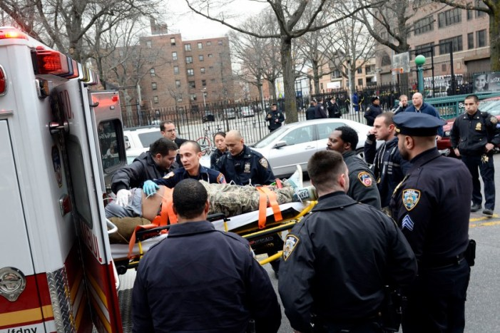 2 Police Officers Shot at Public Housing Complex in New York City