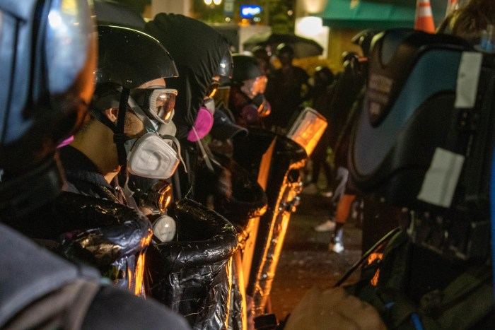 Protesters Arrested in Oregon and New York