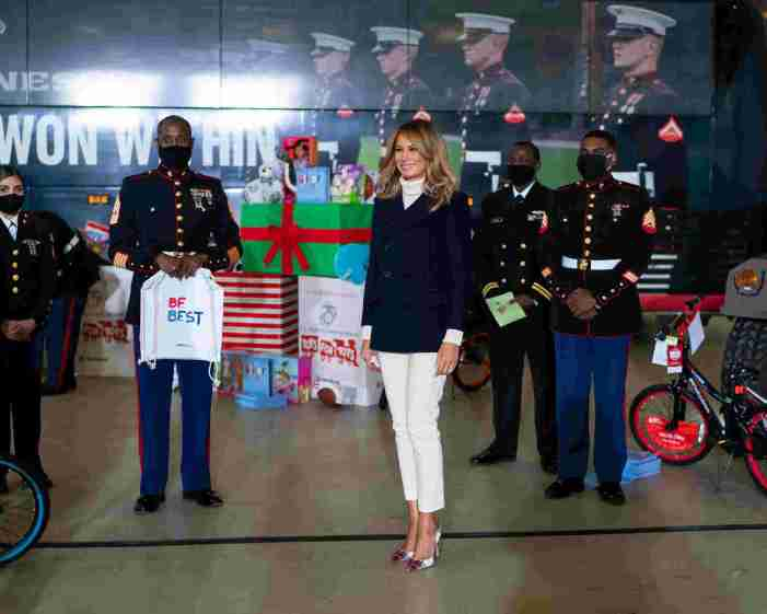 Melania Trump Helps With Annual Toys for Tots