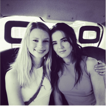 Zoey and Lucy in a Car