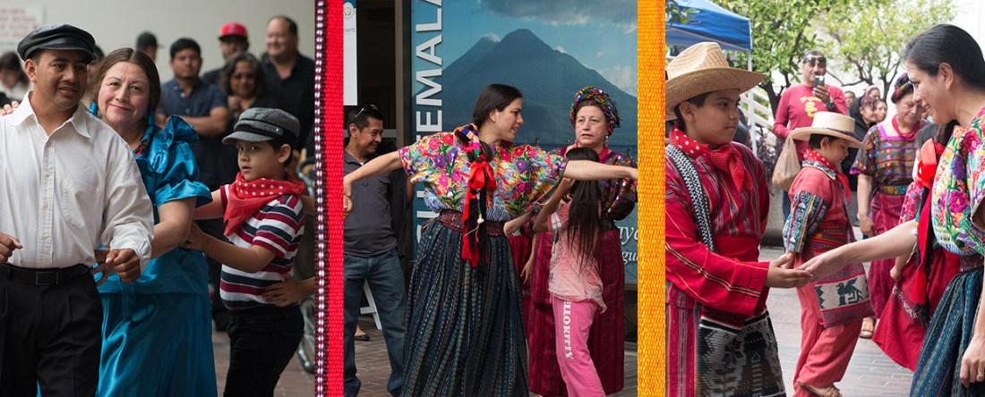 Guatemalan art festival dancing