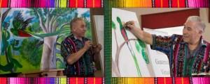 Guatemalan art festival painting class