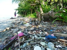 a small amount of all the plastic in the Caribbean