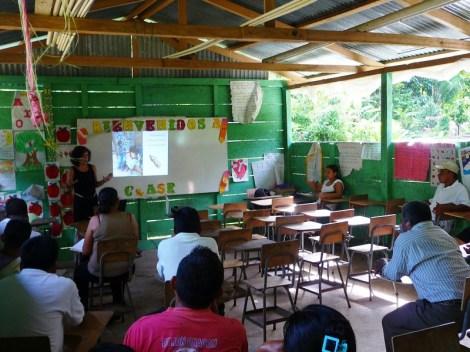 presenting the bottlebrick school to the community
