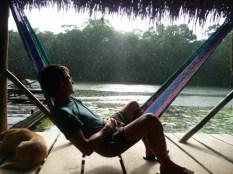relaxing during rain