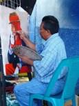 local painter in Juayua