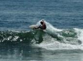 surfing at Playa San Diego