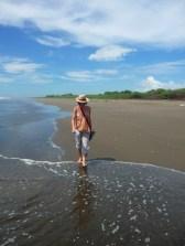 along Jiquilillo beach
