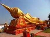 golden Buddha in Vientiane