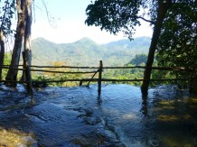 the top of Kwang Si water
