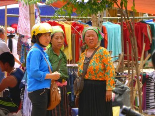 chitchat at the market