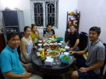 we met a former student of Daniel by coincidence and got invited to the family dinner. It was super delicious!