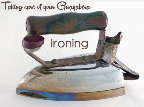 ironing your guayabera