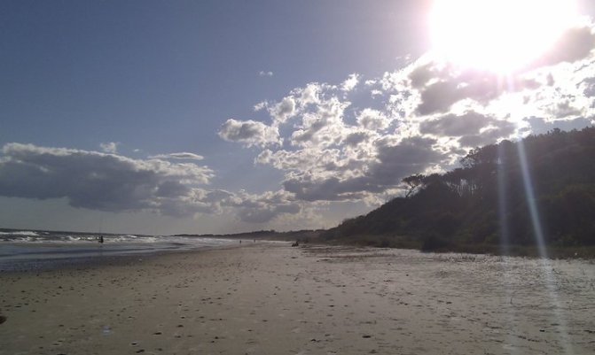 Playa y nubes - Foto compartida por Carla S.