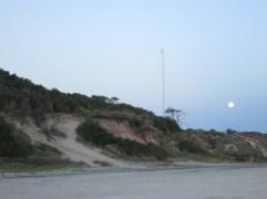 Verano 2014, luna desde la playa - Fotos por José Luis