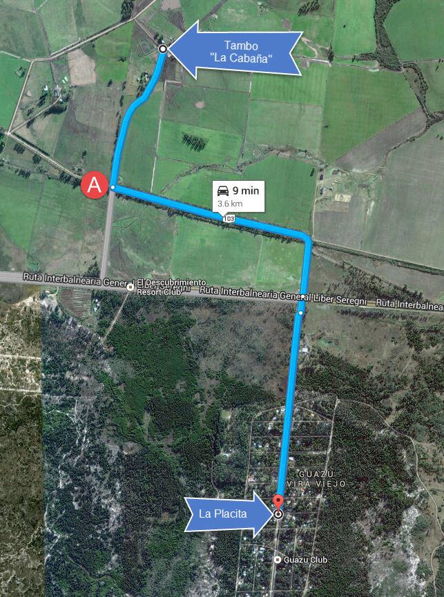 Mapa Tambo La Cabaña