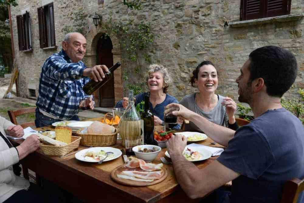 обед в италии