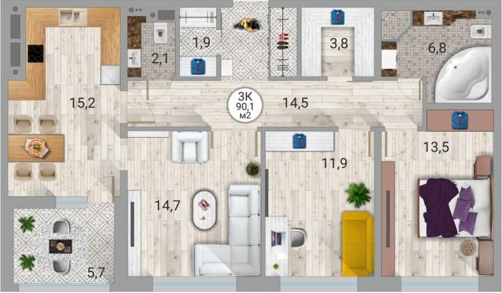 карелия, петрозаводск, квартира, купить квартиру, новостройка, век, симфония