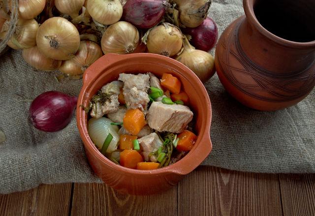 мясо, горшочки, карельская кухня