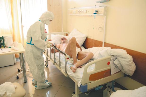 больница, ковид, заболевший