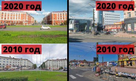 петрозаводск, город, изменился, 10 лет, центр, гагарина, реклама, вывески