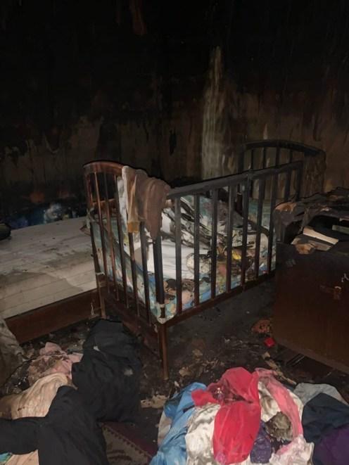 Квартира после пожара. Личный архив