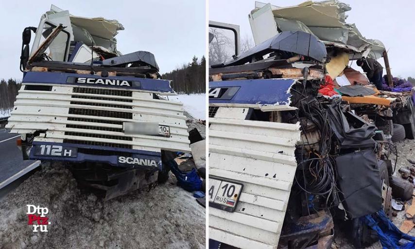 ДТП с грузовиком на трассе