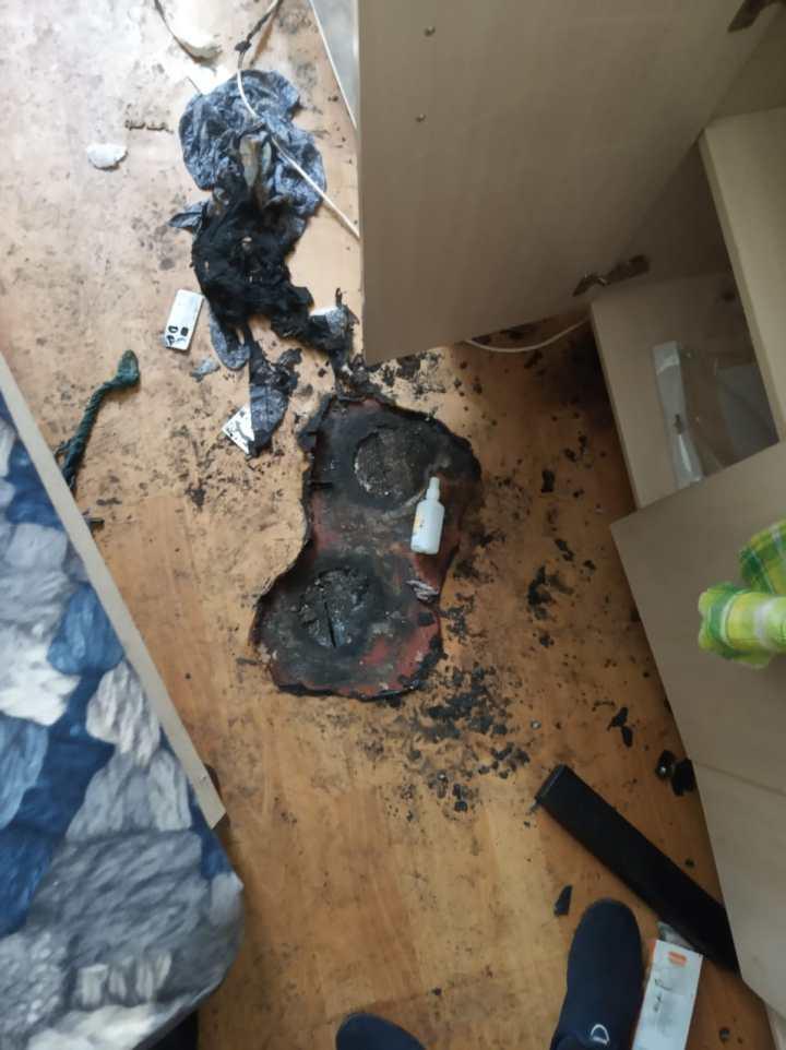 следы пожара на квартире