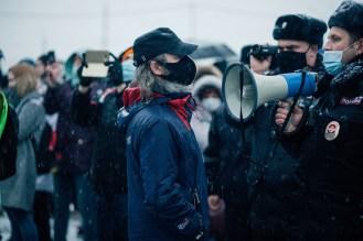 Митинг в поддержку Навального. Петрозаводск