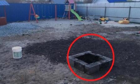 Девочка упала в горящую мусорную яму