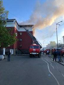 """Пожар в гостинице """"Северная"""" в Петрозаводске"""