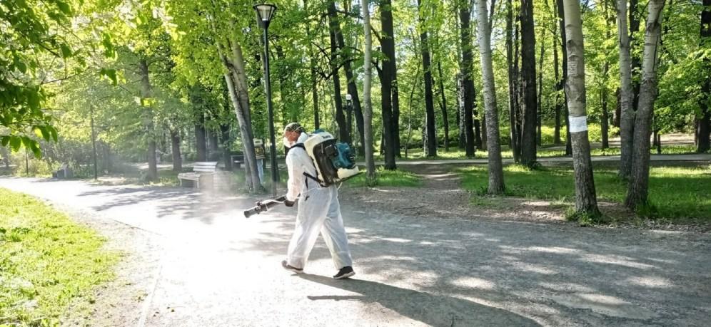 Обработка парков Петрозаводска от клещей