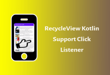 Photo of RecycleView Click Listener (Kotlin)