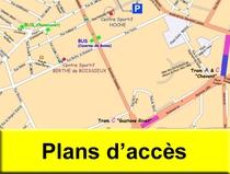 Plans d'accès GUC Escrime Grenoble, Brié, Vizille, Champagnier, Herbeys, Bresson, Jarrie, Vaulnaveys