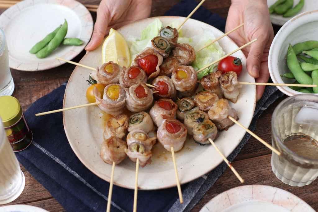 【レシピ】彩り野菜の豚バラ串焼き!