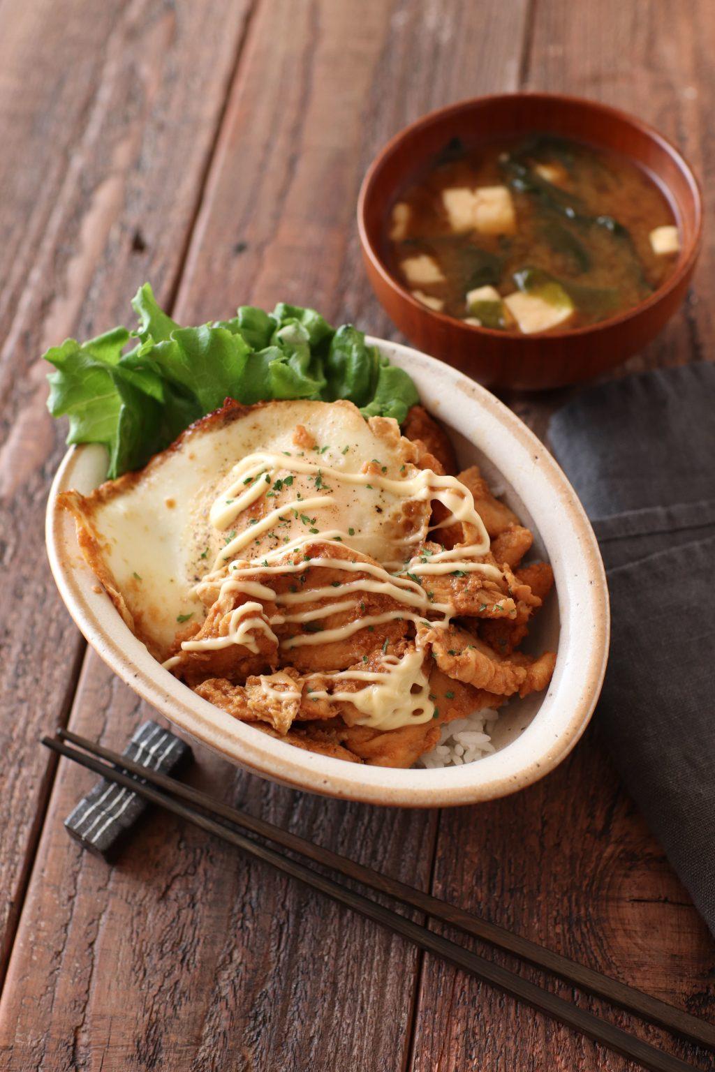 【レシピ】鶏むね肉の生姜マヨ丼