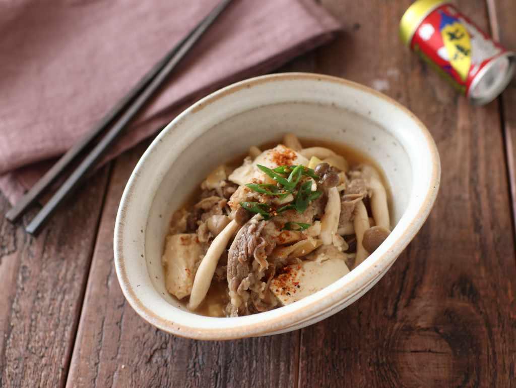 【レシピ】牛豆腐皿