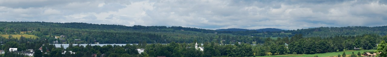 2016 – Summer – Panoramic photo of town with church in middle