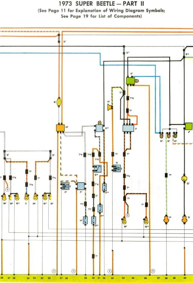 VW Bug 1973 wiring diagrams | My Blog