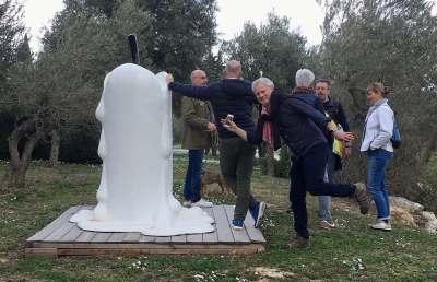 Sculpture Bougie fondue géante