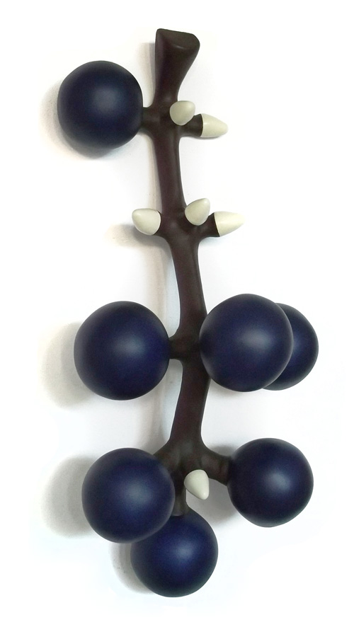 Grappe de raisin croquée