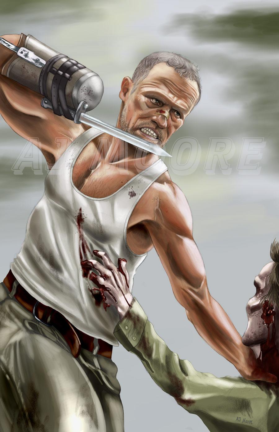 Merle Dixon The Walking Dead: portrayed by Michael Rooker