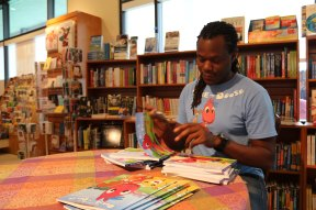 AJ Moore signing at The Twig Book Shop.