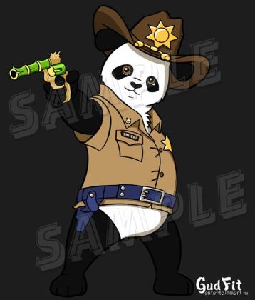 Sheriff Chi Chi Panda. By GudFit Entertainment. Art by Artist AJ Moore